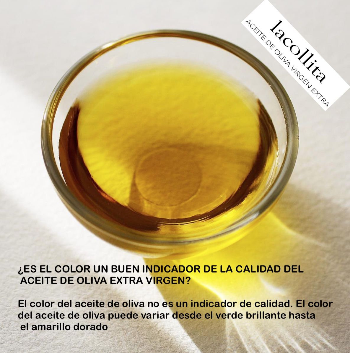 El Color Del Aceite De Oliva Es Un Buen Indicador De Calidad?