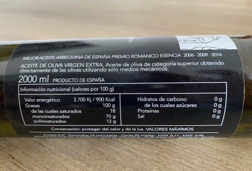 La Interpretación De La Información Nutricional Del Aceite De Oliva Virgen Extra